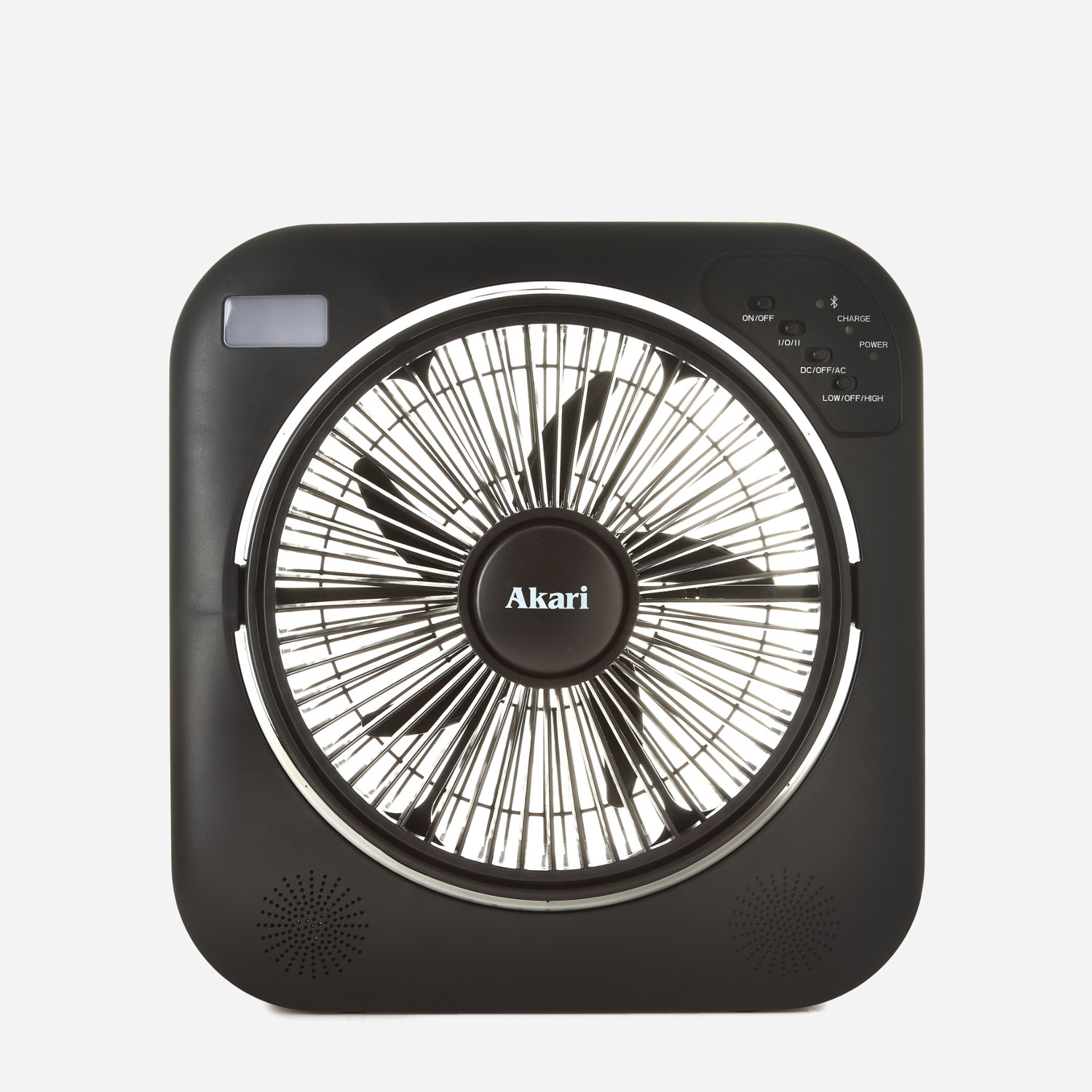 Shopsm Akari Rechargeable 12in Bluetooth Box Fan Arbf 5513mb